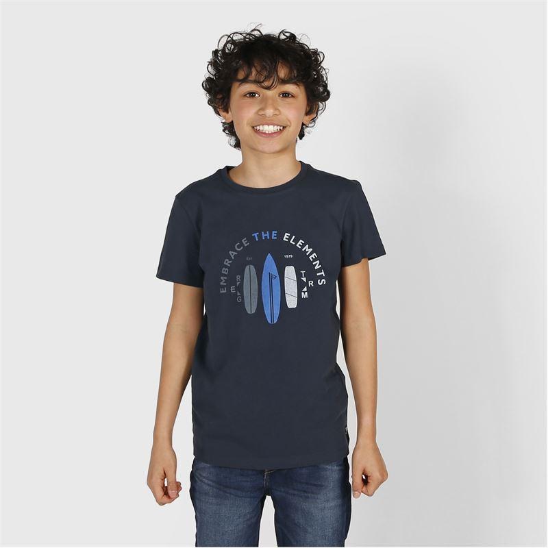 Brunotti Tim-Print  (blauw) - jongens t-shirts & polo's - Brunotti online shop