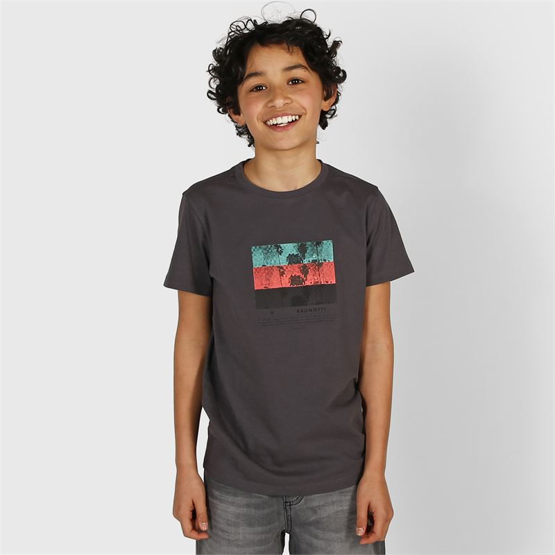 Brunotti Tim-Print  (grey) - boys t-shirts & polos - Brunotti online shop