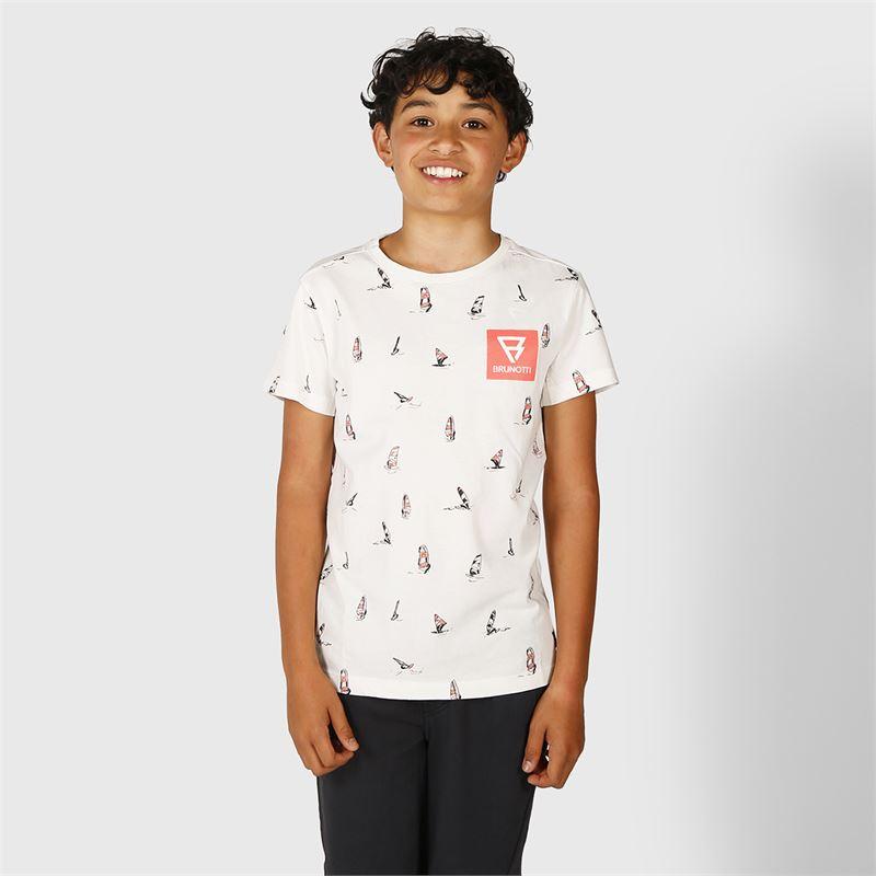 Brunotti Lucas  (wit) - jongens t-shirts & polo's - Brunotti online shop