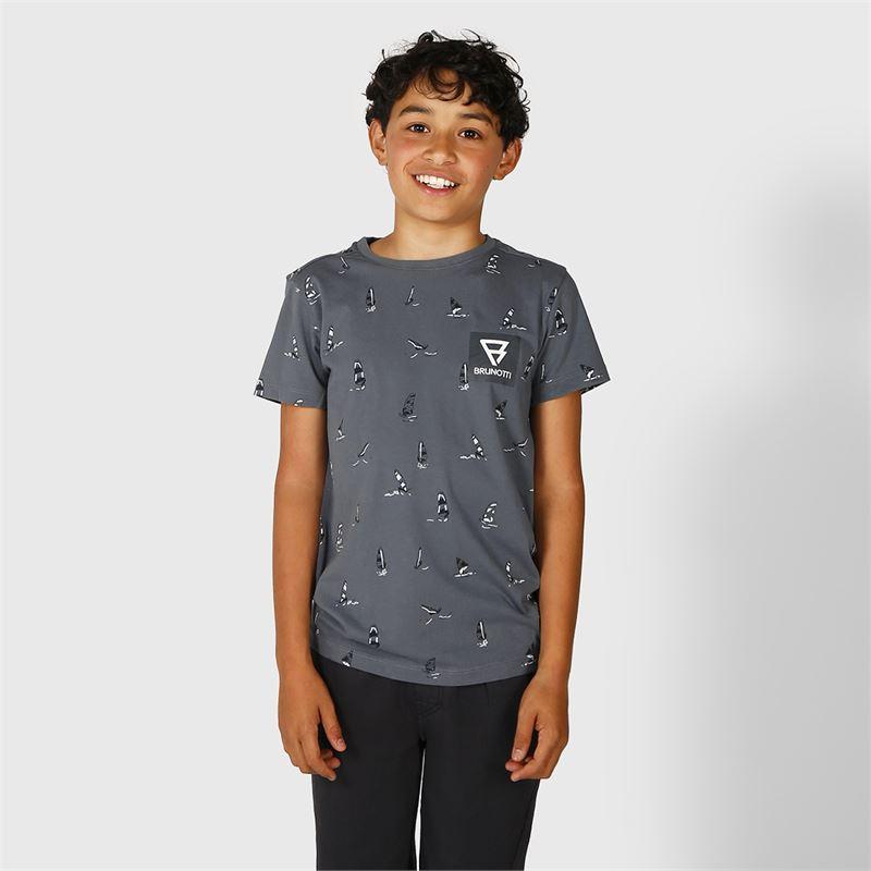 Brunotti Lucas  (blauw) - jongens t-shirts & polo's - Brunotti online shop