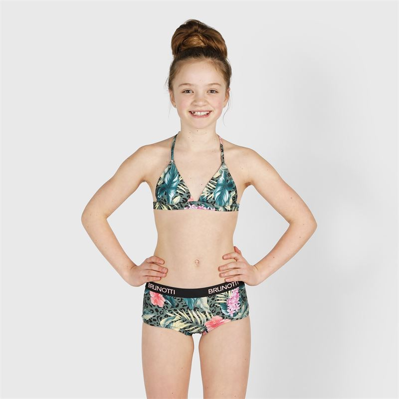 Brunotti Faiza-Hawai  (groen) - meisjes bikini's - Brunotti online shop
