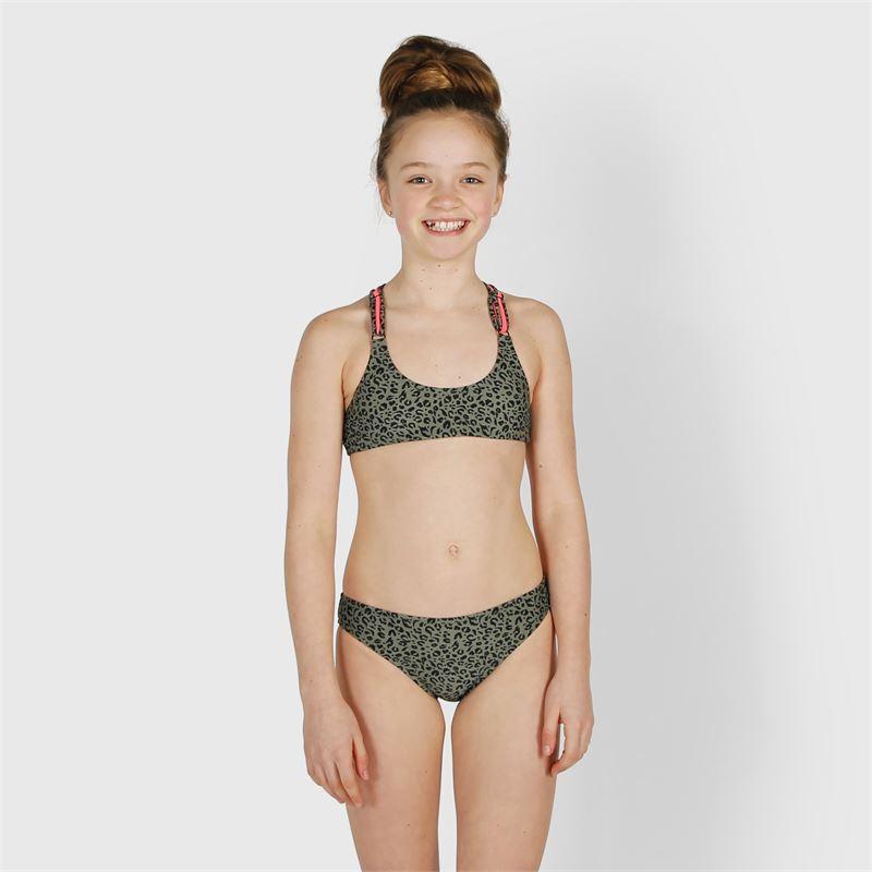 Brunotti Coralina-Leopard  (groen) - meisjes bikini's - Brunotti online shop