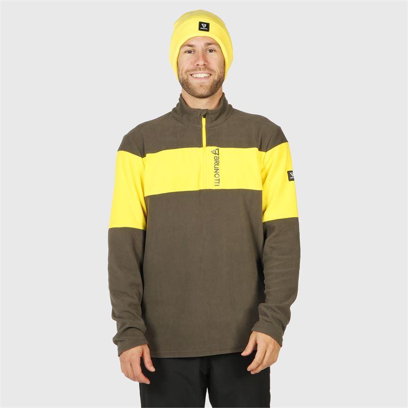 Brunotti Vaughn  (grijs) - heren fleeces - Brunotti online shop