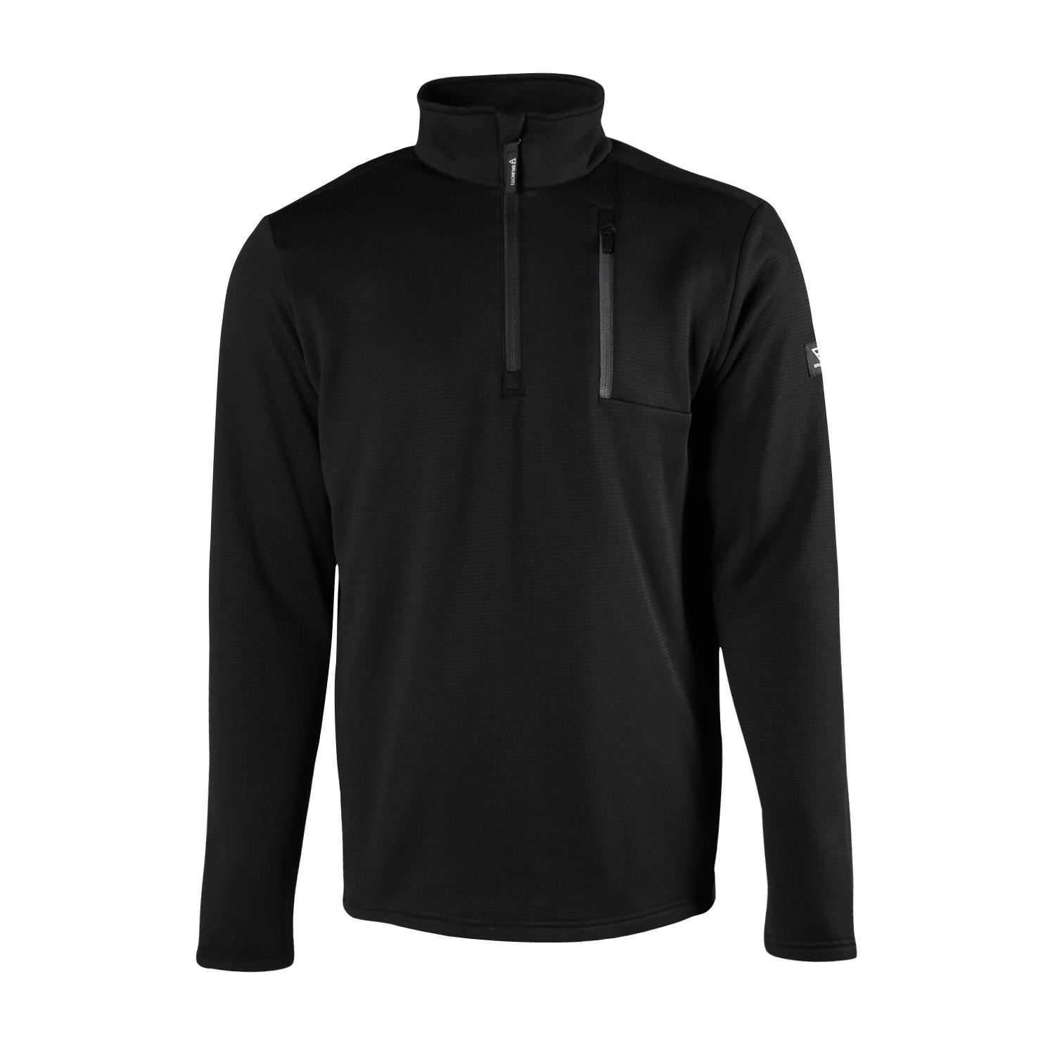 Brunotti Pintal  (zwart) - heren fleeces - Brunotti online shop