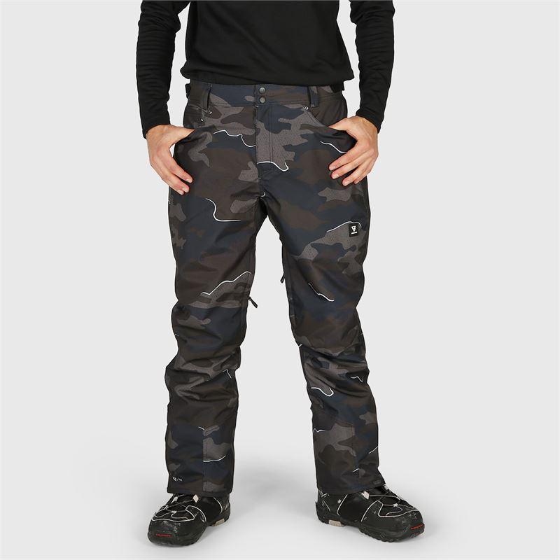 Brunotti Kitebar-Camo  (zwart) - heren skibroeken - Brunotti online shop