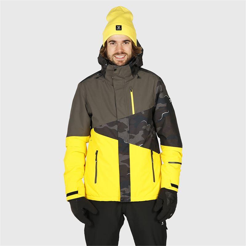 Brunotti Idaho  (geel) - heren ski-jassen - Brunotti online shop