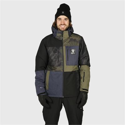 Brunotti Aracin-Patchwork Mens Snowjacket. Verfügbar in S,M,L,XL,XXL,XXXL (2021123084-0532)