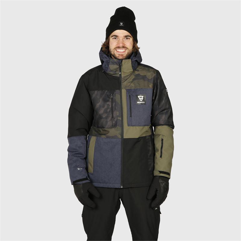 Brunotti Aracin-Patchwork  (blau) - herren skijacken - Brunotti online shop