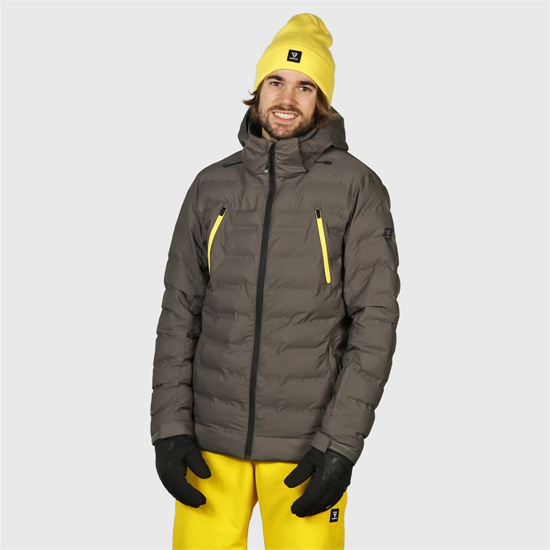 Brunotti Saxon  (grey) - men snow jackets - Brunotti online shop