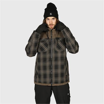 Brunotti Bowen-Check Mens Snowjacket. Verfügbar in S,M,L,XL,XXL (2021123095-0930)