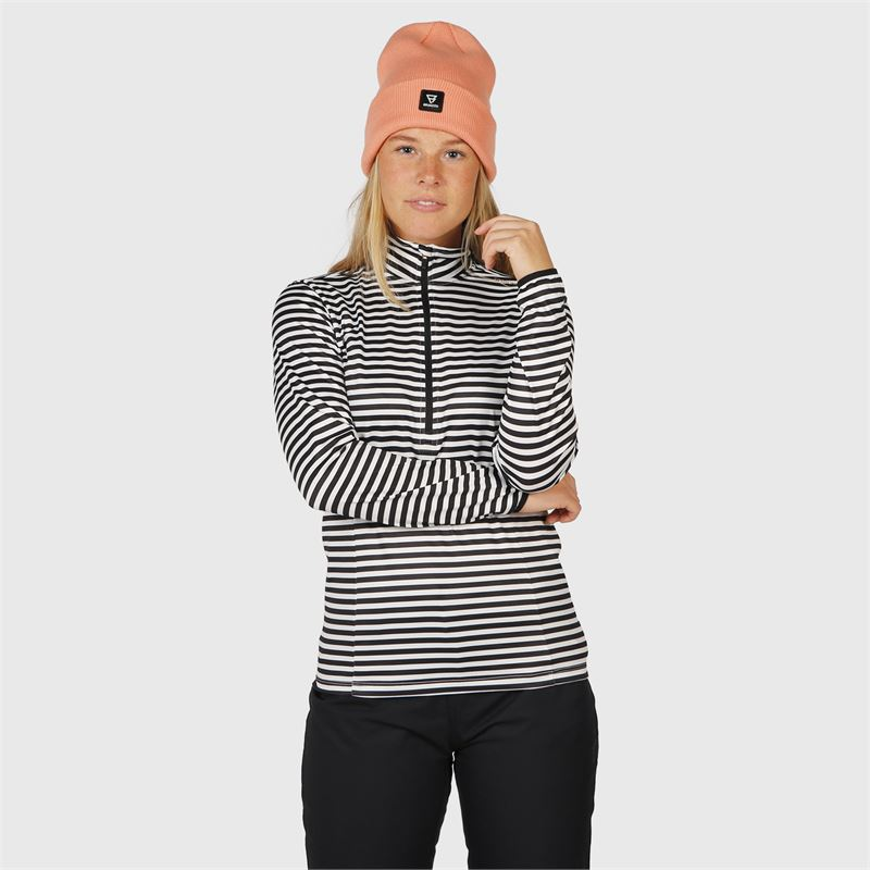 Brunotti Rodia-stripe  (zwart) - dames fleeces - Brunotti online shop