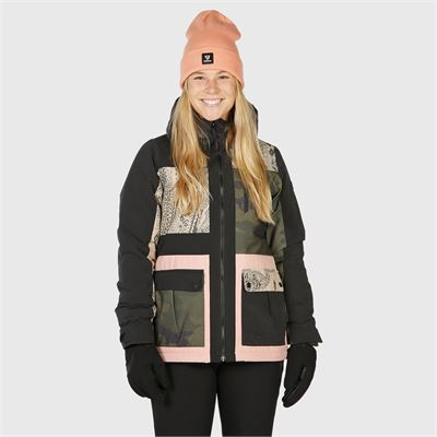 Brunotti Kalei-Patchwork Women Snowjacket. Verfügbar in XS,S,M,XL,XXL (2022123322-099)