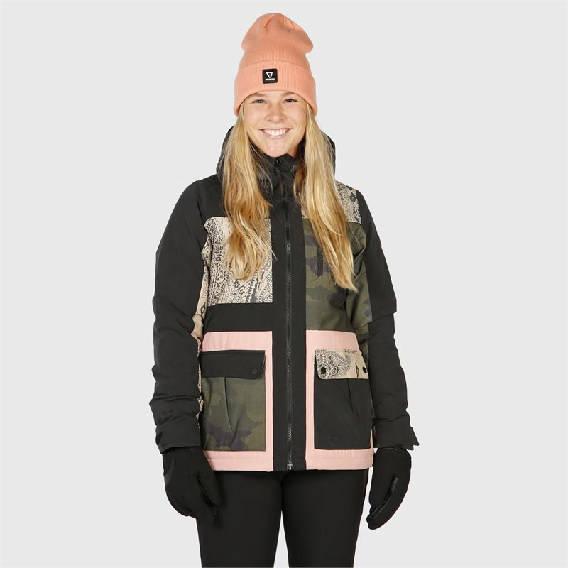 Brunotti Kalei-Patchwork  (black) - women snow jackets - Brunotti online shop
