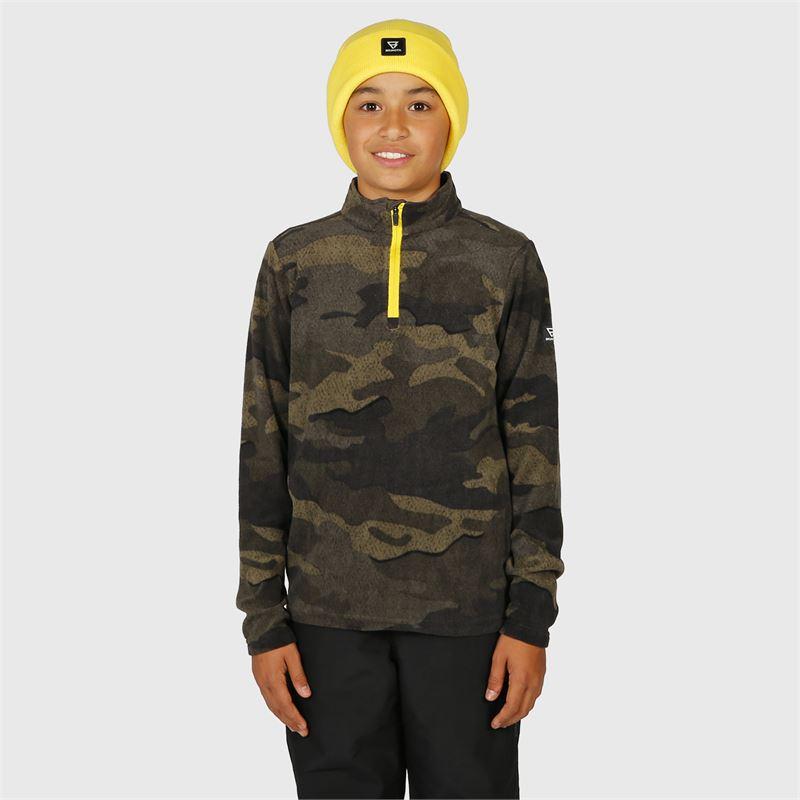 Brunotti Stewart-JR  (geel) - jongens fleeces - Brunotti online shop