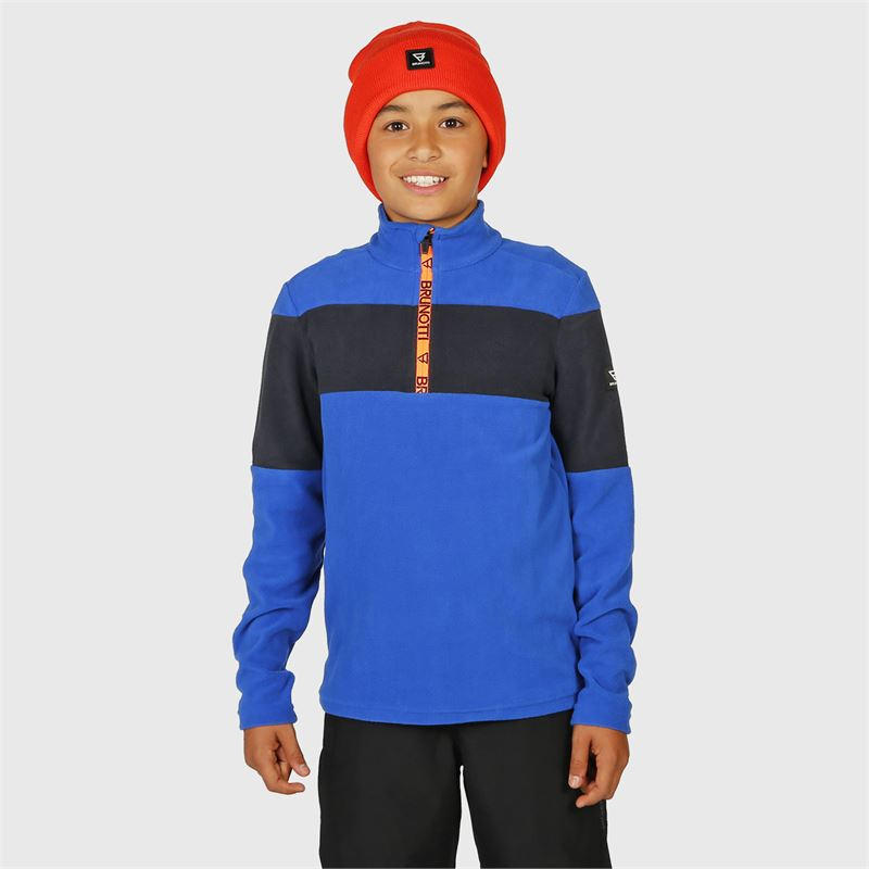 Brunotti Vaughn-JR  (blauw) - jongens fleeces - Brunotti online shop