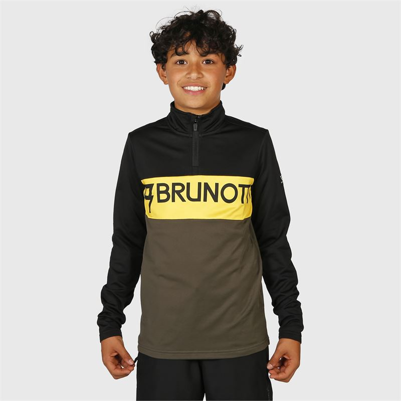 Brunotti Frank-JR  (zwart) - jongens fleeces - Brunotti online shop