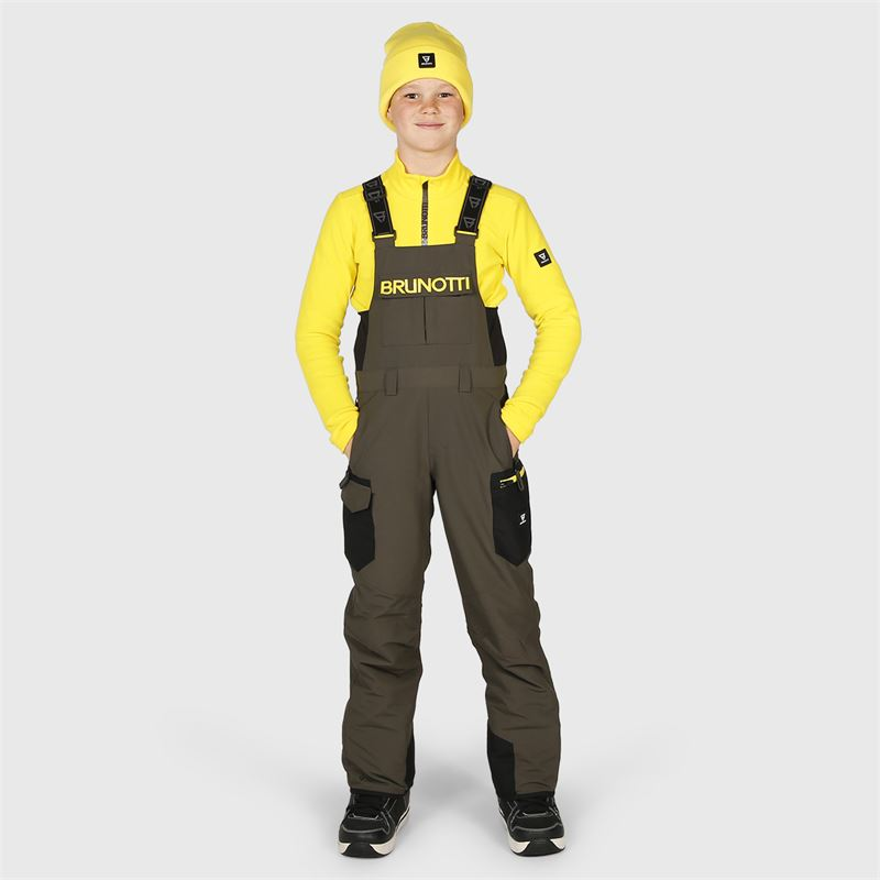 Brunotti Olwen-BIB-JR  (grey) - boys snow pants - Brunotti online shop