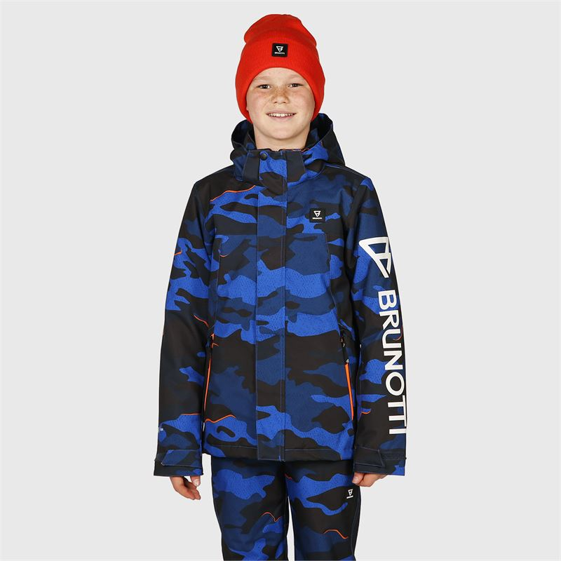 Brunotti Gullies-JR  (blauw) - jongens ski-jassen - Brunotti online shop