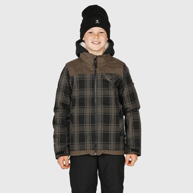 Bowen-Check-JR Boys Snowjacket