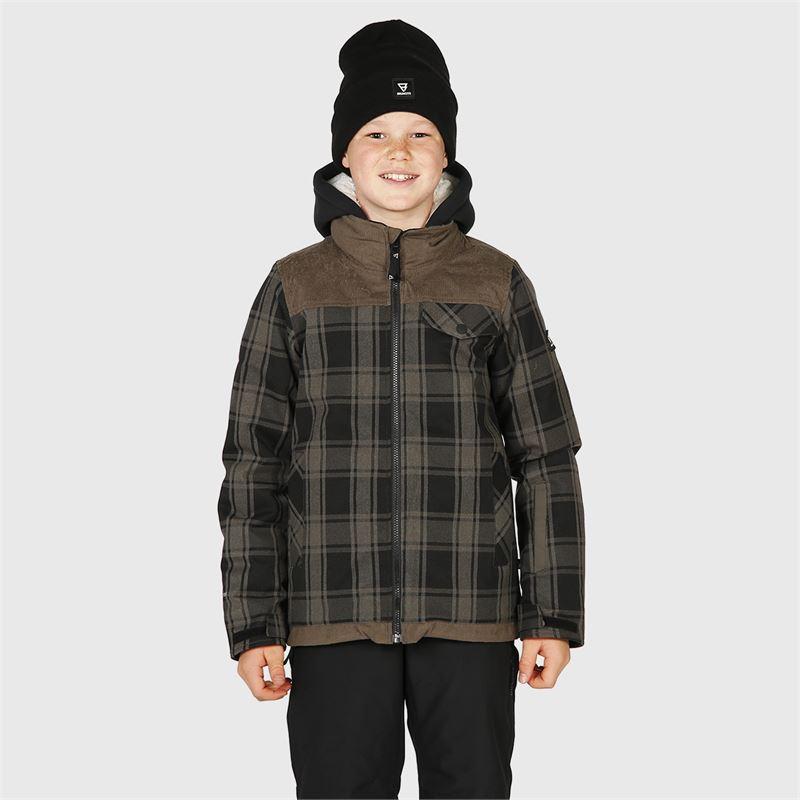 Brunotti Bowen-Check-JR  (grey) - boys snow jackets - Brunotti online shop