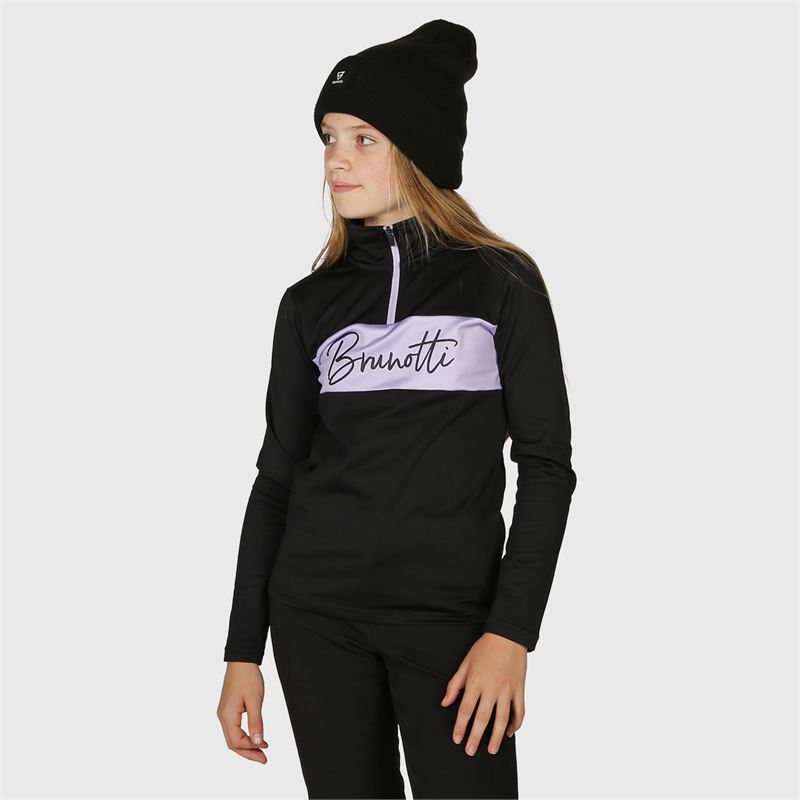 Brunotti Tyra-JR  (zwart) - meisjes fleeces - Brunotti online shop