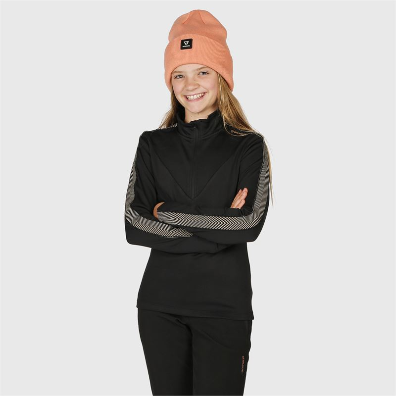 Brunotti Phesant-JR  (zwart) - meisjes fleeces - Brunotti online shop