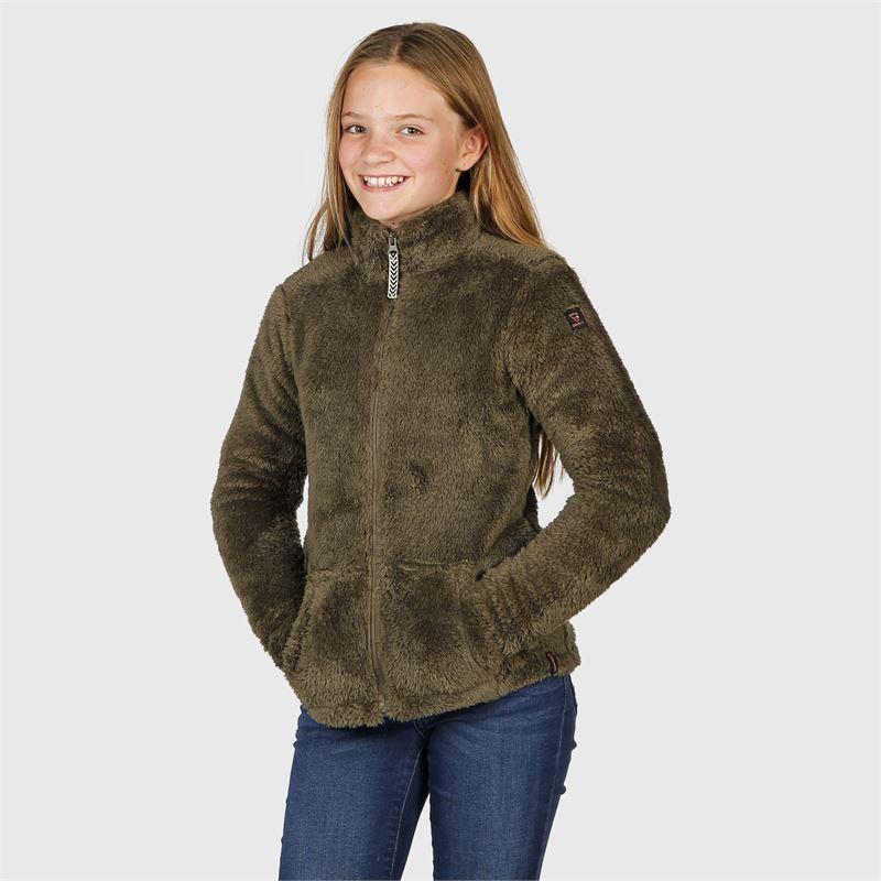 Brunotti Moani-JR  (groen) - meisjes fleeces - Brunotti online shop