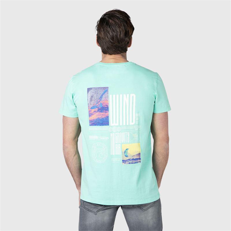Brunotti Ivan-Back  (blauw) - heren t-shirts & polo's - Brunotti online shop