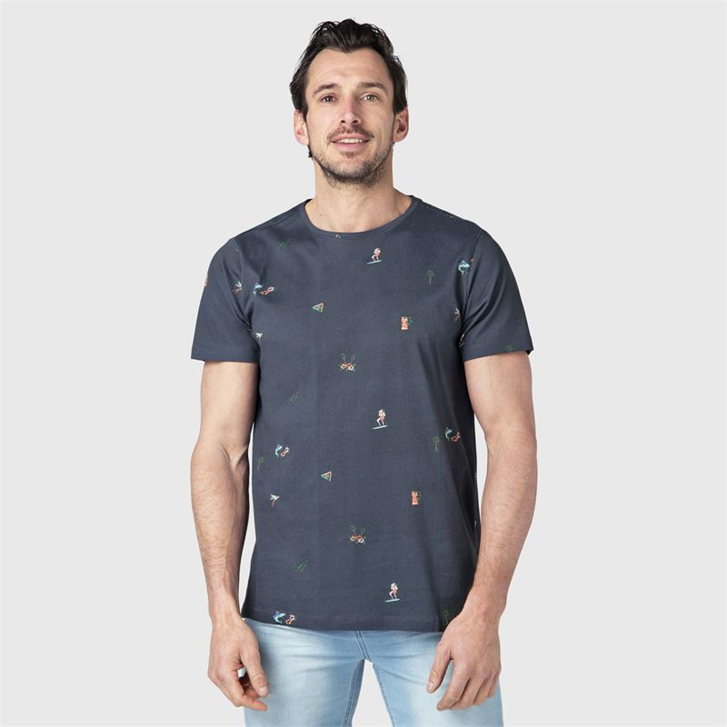 Brunotti Reyes  (zwart) - heren t-shirts & polo's - Brunotti online shop