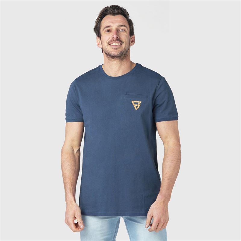 Brunotti Teyo  (blauw) - heren t-shirts & polo's - Brunotti online shop
