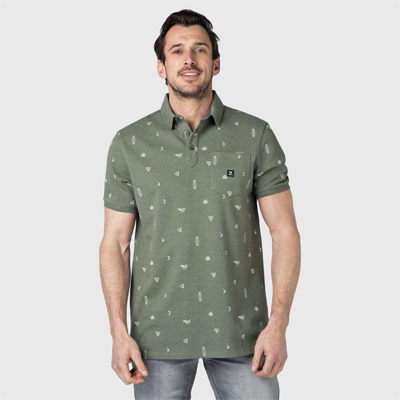 Brunotti Addax-AO  (groen) - heren t-shirts & polo's - Brunotti online shop
