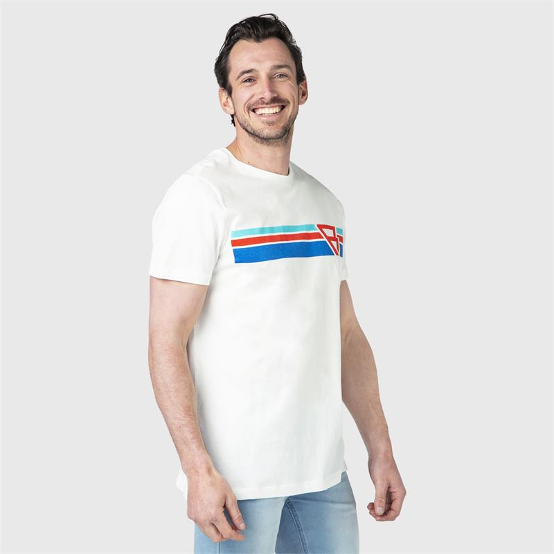 Brunotti Tim-Print  (wit) - heren t-shirts & polo's - Brunotti online shop