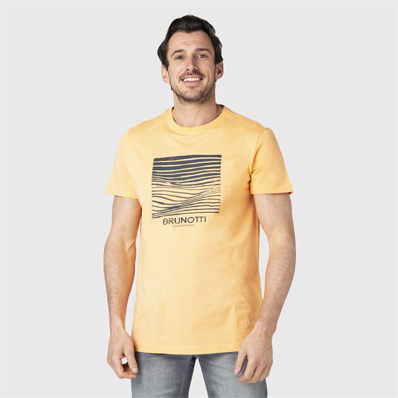 Brunotti Tim-Print  (orange) - herren t-shirts & polos - Brunotti online shop