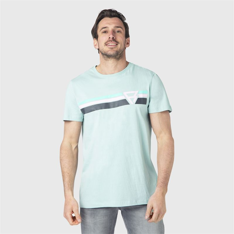 Brunotti Tim-Print  (blue) - men t-shirts & polos - Brunotti online shop