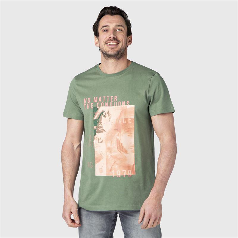 Brunotti Tim-Print  (groen) - heren t-shirts & polo's - Brunotti online shop
