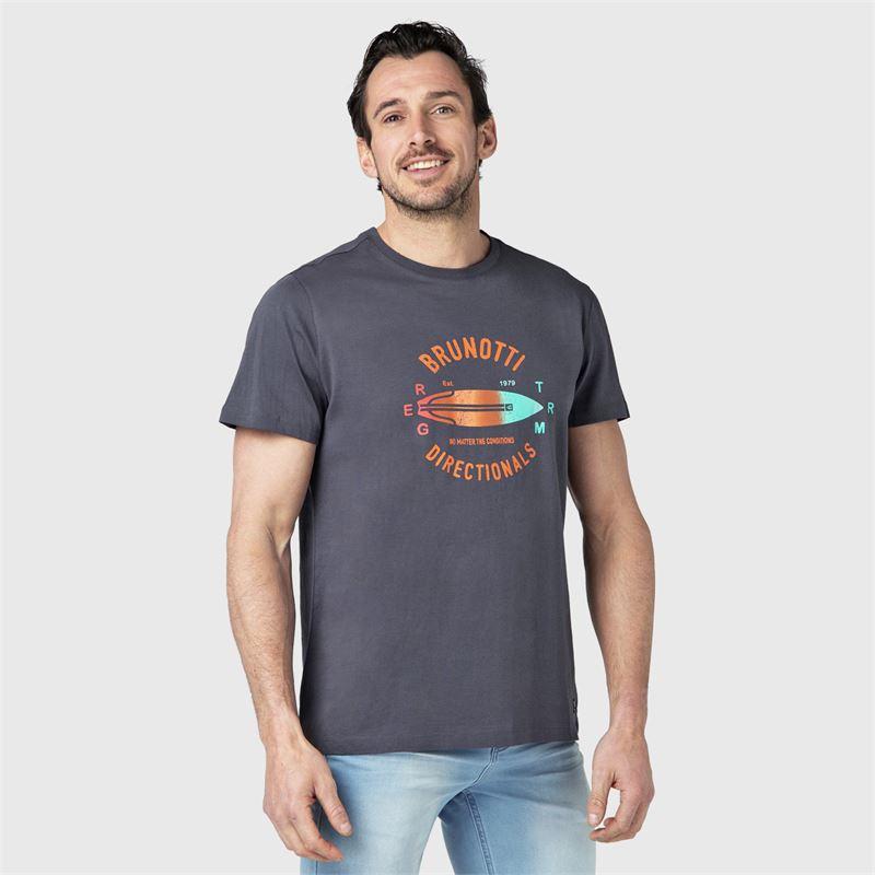 Brunotti Tim-Print  (zwart) - heren t-shirts & polo's - Brunotti online shop