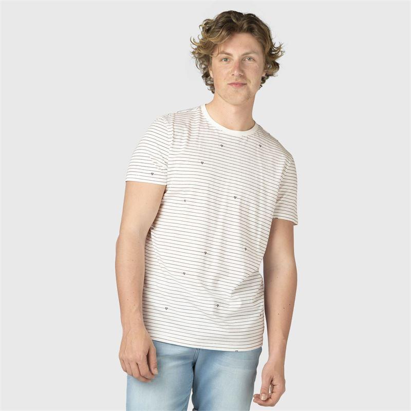 Brunotti Tim-Stripe  (wit) - heren t-shirts & polo's - Brunotti online shop