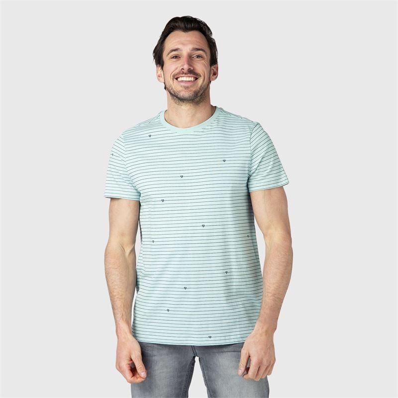 Brunotti Tim-Stripe  (blauw) - heren t-shirts & polo's - Brunotti online shop
