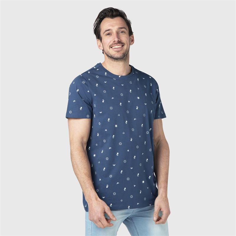 Brunotti Tim-Mini-AO  (blauw) - heren t-shirts & polo's - Brunotti online shop