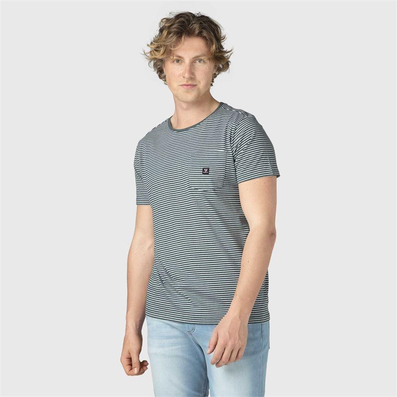 Brunotti Axle-Ydstripe-pckt  (groen) - heren t-shirts & polo's - Brunotti online shop