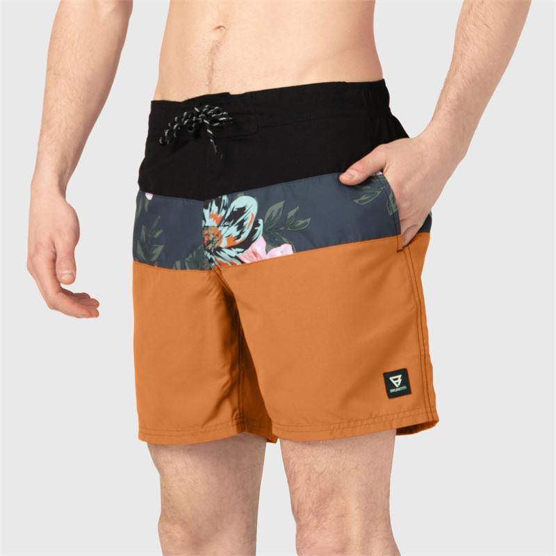 Brunotti Catamaran-Flower  (oranje) - heren zwemshorts - Brunotti online shop