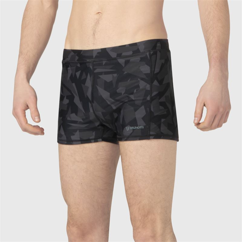 Brunotti Saabir-AO  (zwart) - heren zwemshorts - Brunotti online shop