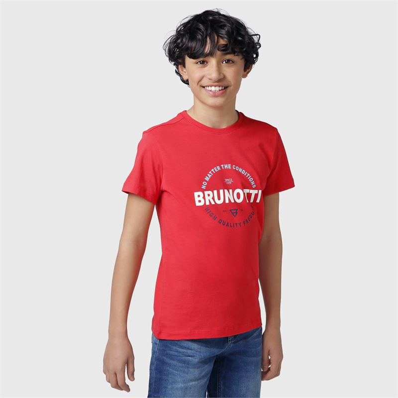 Brunotti Tim-Print-JR  (orange) - boys t-shirts & polos - Brunotti online shop
