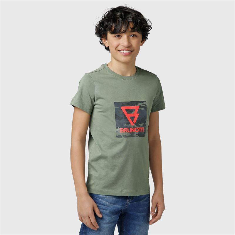 Brunotti Tim-Print-JR  (groen) - jongens t-shirts & polo's - Brunotti online shop