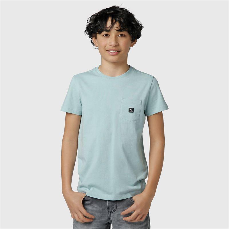 Brunotti Axle-JR  (blauw) - jongens t-shirts & polo's - Brunotti online shop