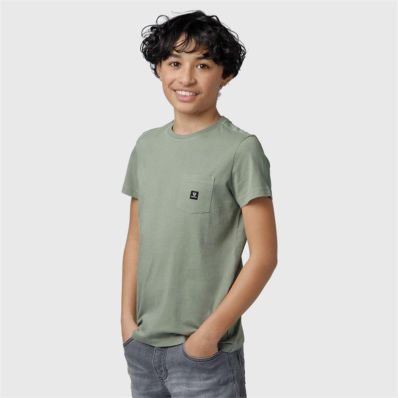 Brunotti Axle-JR  (groen) - jongens t-shirts & polo's - Brunotti online shop