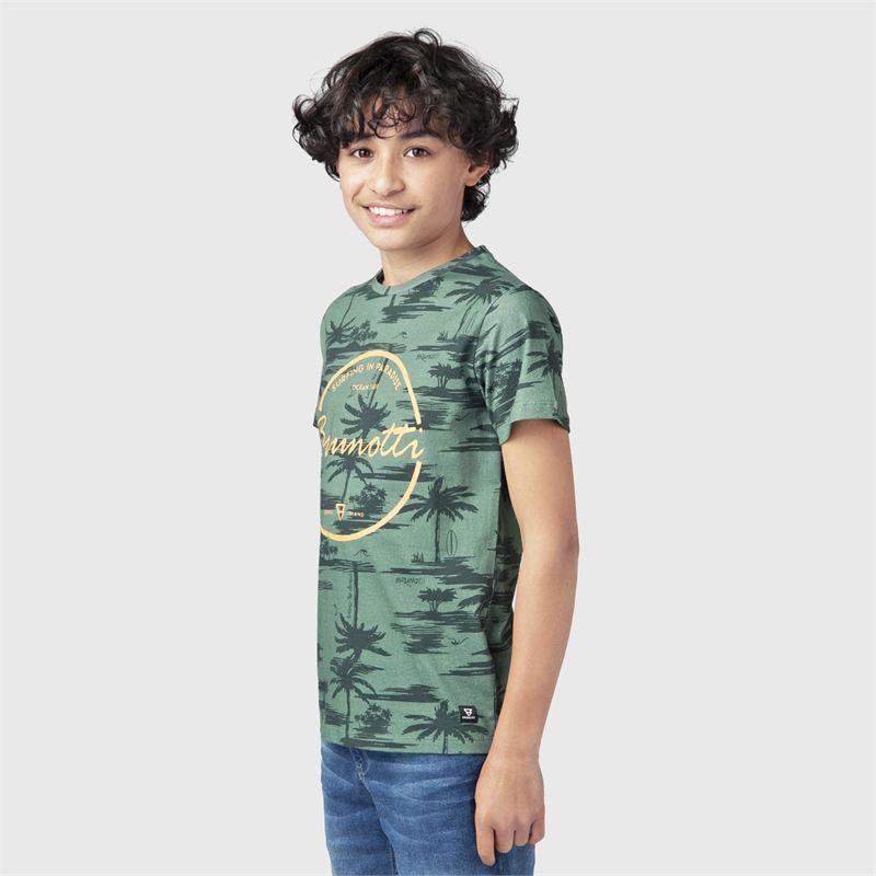 Brunotti Ben-AO-JR  (groen) - jongens t-shirts & polo's - Brunotti online shop