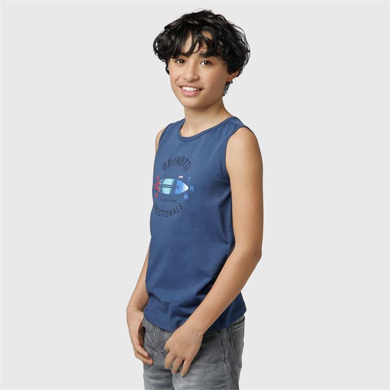 Brunotti Jordan-JR  (blauw) - jongens t-shirts & polo's - Brunotti online shop