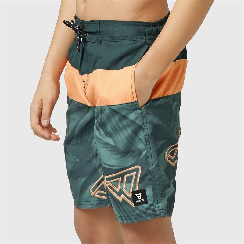 Brunotti Catamaran-Leaf-JR  (groen) - jongens zwemshorts - Brunotti online shop