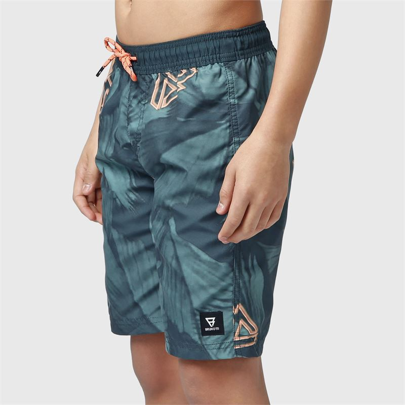 Brunotti Mason-JR  (green) - boys swimshorts - Brunotti online shop